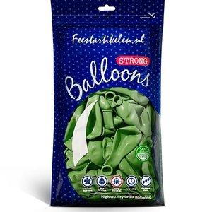 Metallic ballonnen groen 100 stuks