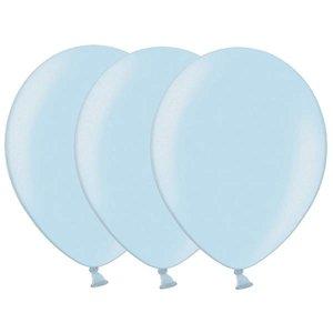 Metallic ballonnen lichtblauw 20 stuks