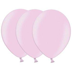 Metallic ballonnen lichtroze 20 stuks