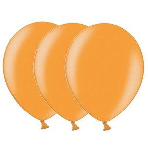 Metallic ballonnen oranje 20 stuks