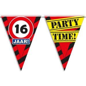 Vlaggenlijn slinger 16 jaar Party Time