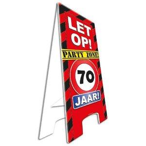 Pas op bord party zone 70 jaar