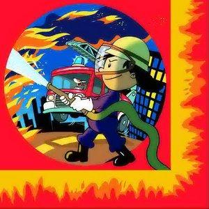 Servetten Blussende Brandweerman