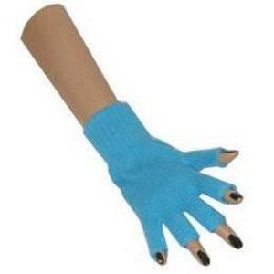 Handschoenen vingerloos lichtblauw