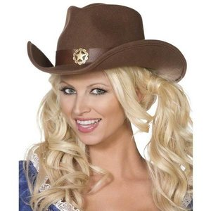 Cowboyhoed bruin met ster