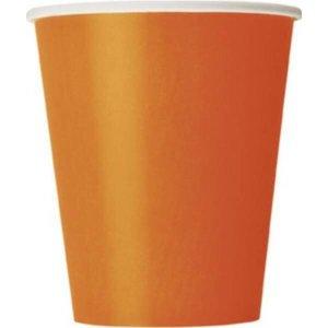 Bekertjes oranje 8 stuks