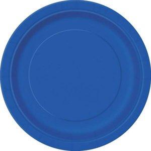 Bordjes donkerblauw 8 stuks