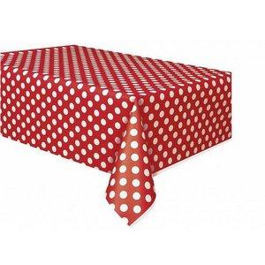Minnie tafelkleed rood met witte stippen