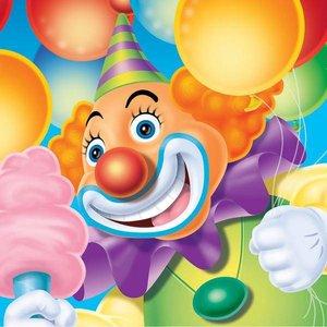 Servetten Circus Clown