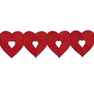 Slingert hart rood klein