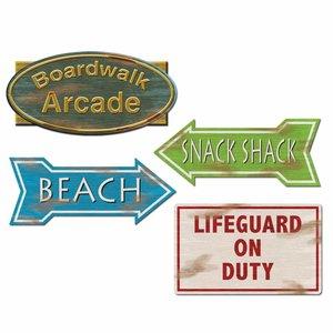 Decoratie Beach borden