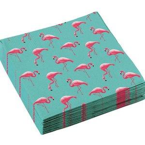 Servetten Flamingo mintgroen