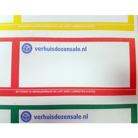 Stickervel etiketten