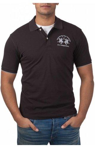 La Martina La Martina ® Poloshirt Logo, Zwart