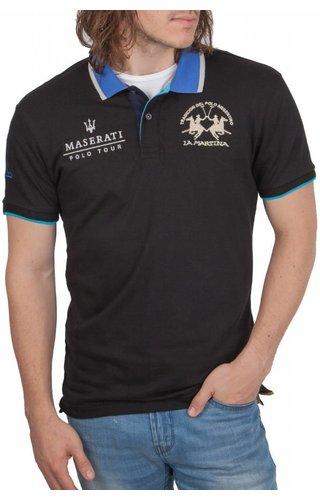 La Martina La Martina ® Poloshirt Maserati, Zwart