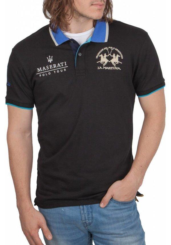 ® Poloshirt Maserati, Zwart