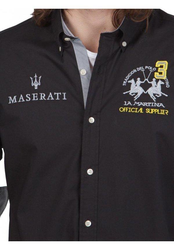 ® Overhemd Maserati, zwart