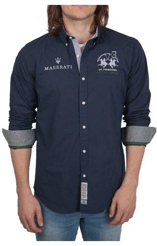 La Martina La Martina ® Overhemd Maserati, donkerblauw