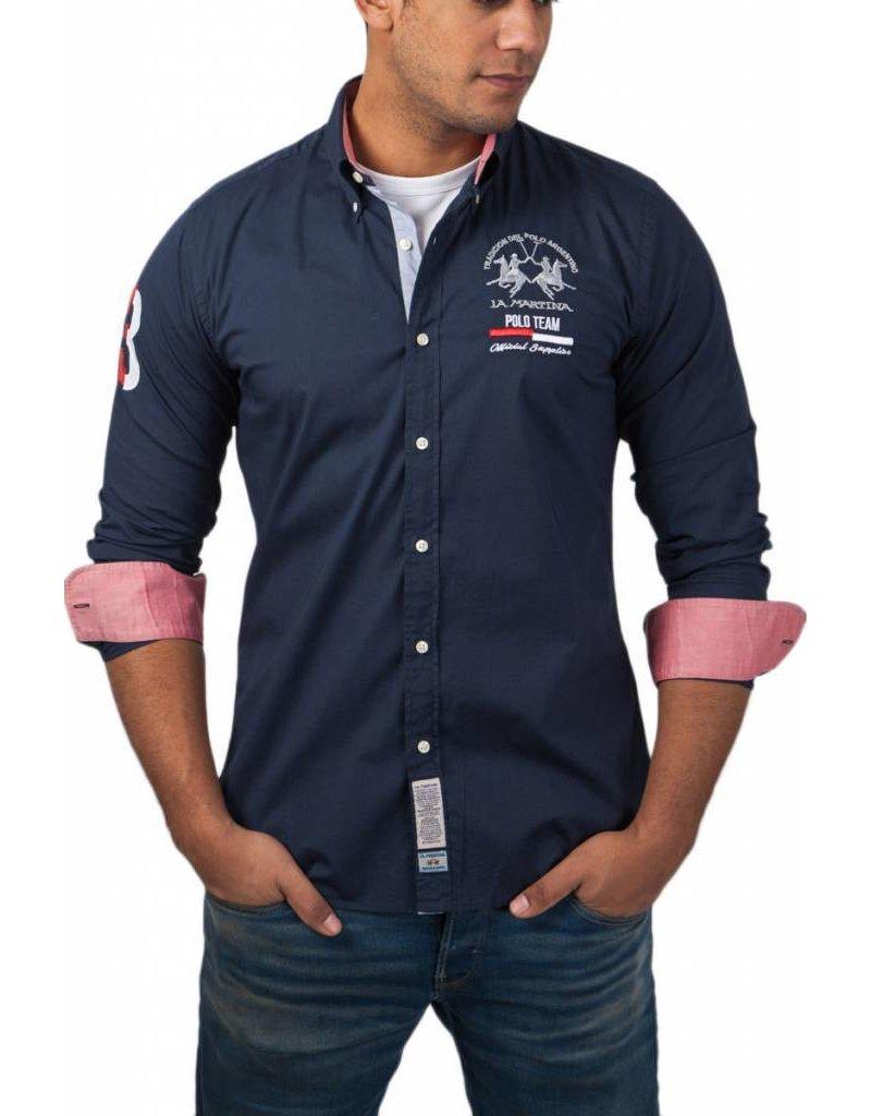 La Martina ® Overhemd Poloteam, donkerblauw