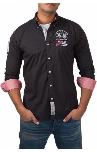 La Martina La Martina ® Overhemd Poloteam, zwart