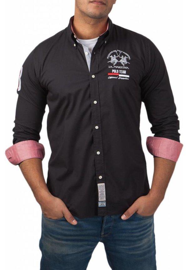 ® Overhemd Poloteam, zwart