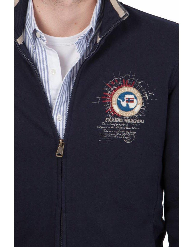 Napapijri ® Sweatshirt met ritssluiting, Donkerblauw
