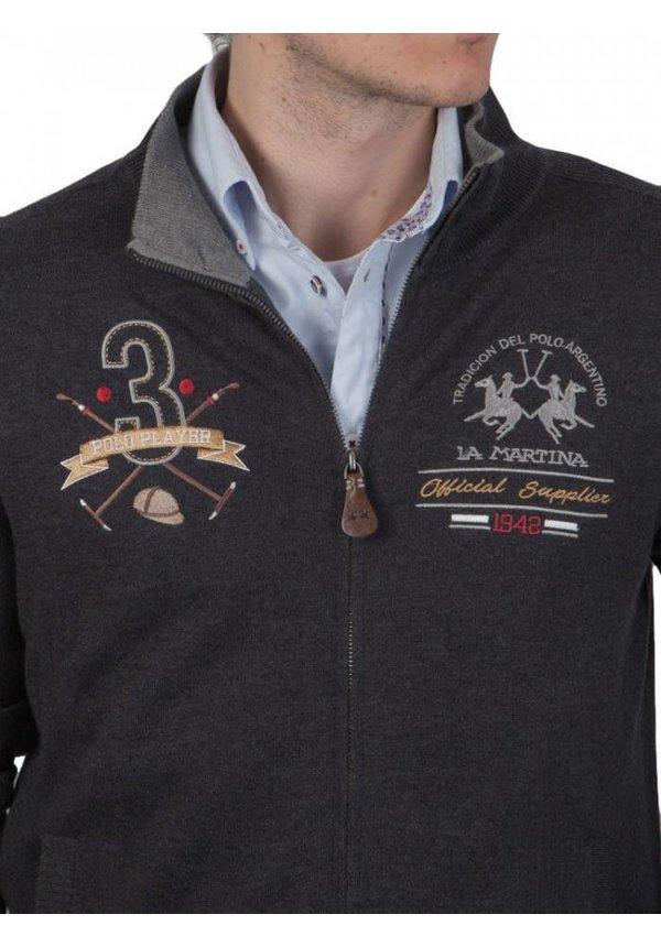 ® Vest Polo Player, donkergrijs