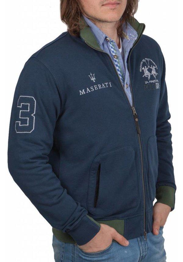 ® Sweatvest Maserati, donkerblauw