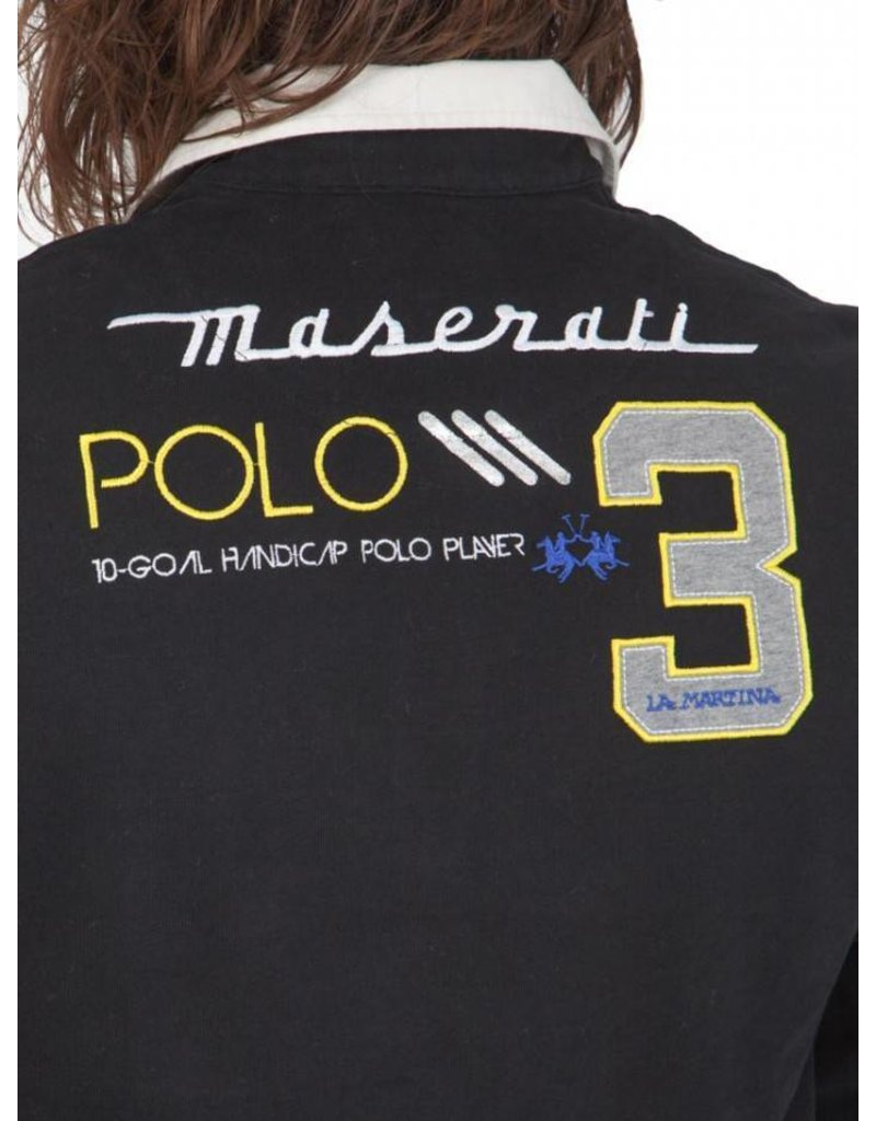La Martina ® Sweatshirt Maserati, zwart