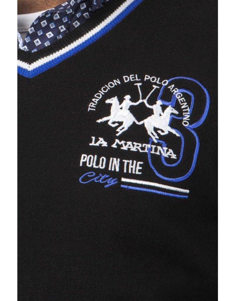 La Martina ® Sweatshirt Trui Polo City, zwart