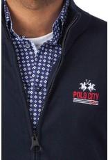 La Martina ® Sweatshirt Vest Polo City, donkerblauw