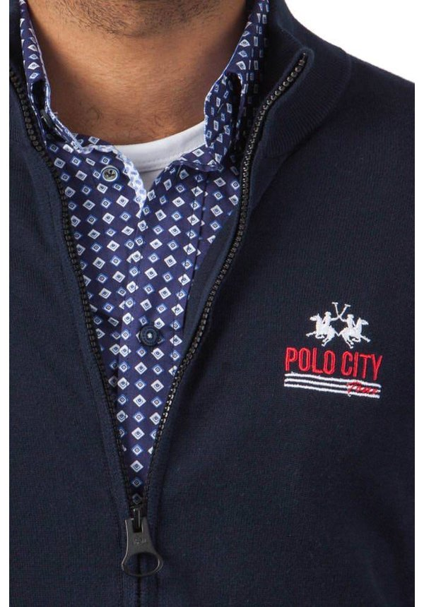 ® Sweatshirt Vest Polo City, donkerblauw