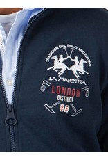 La Martina ® Sweatvest London District, donkerblauw