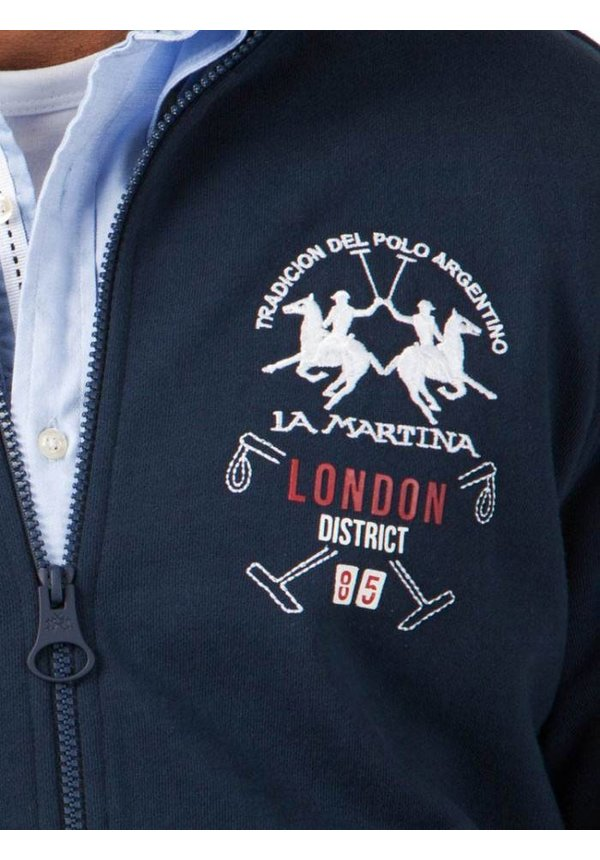 ® Sweatvest London District, donkerblauw