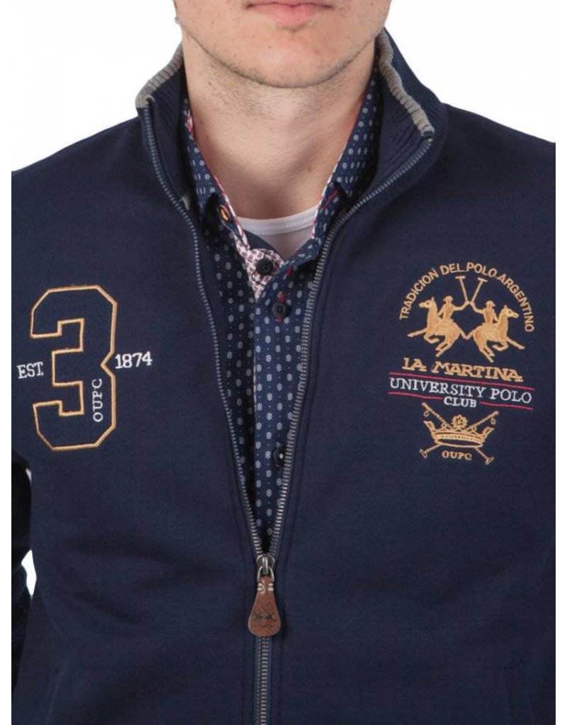 La Martina ® Sweatvest University Polo Club, donkerblauw