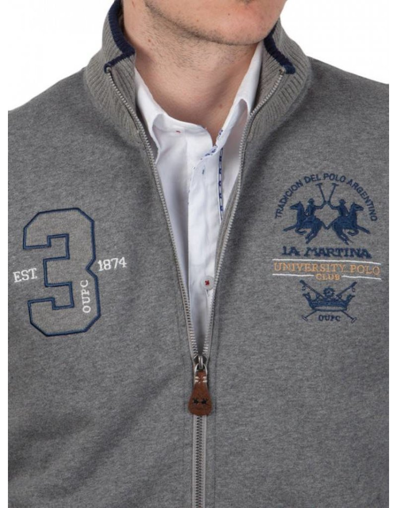 La Martina ® Sweatvest University Polo Club, grijs