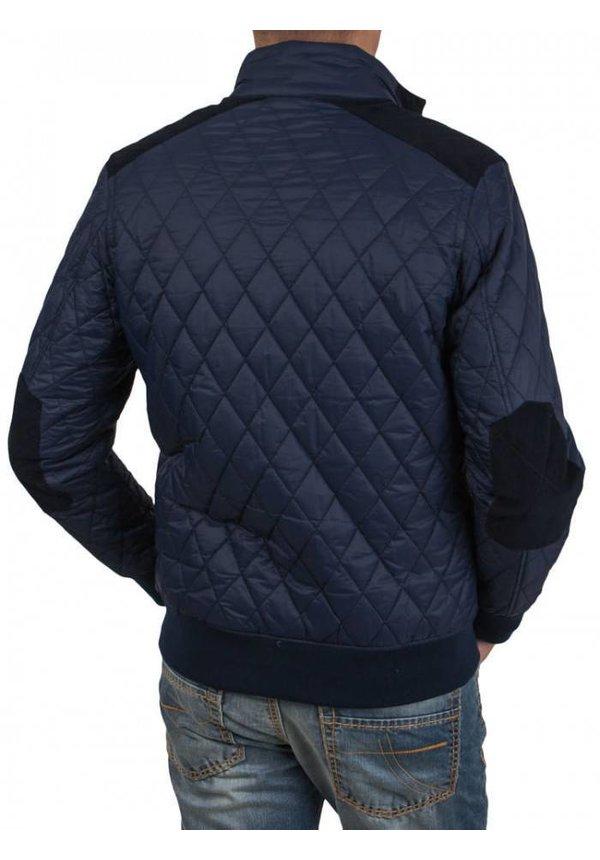 Stepped Jacket, Donkerblauw