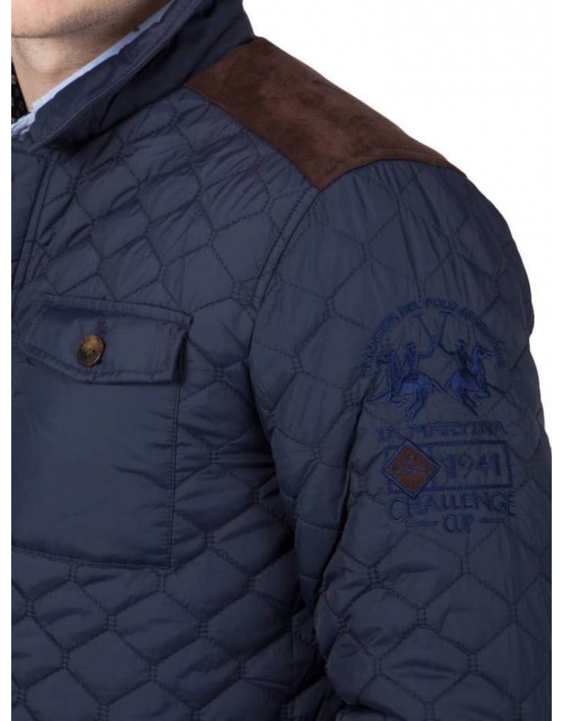 La Martina Stepped Jacket, Donkerblauw