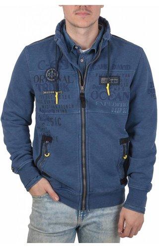 Camp David Camp David ® Sweater Jacket Deep Ocean