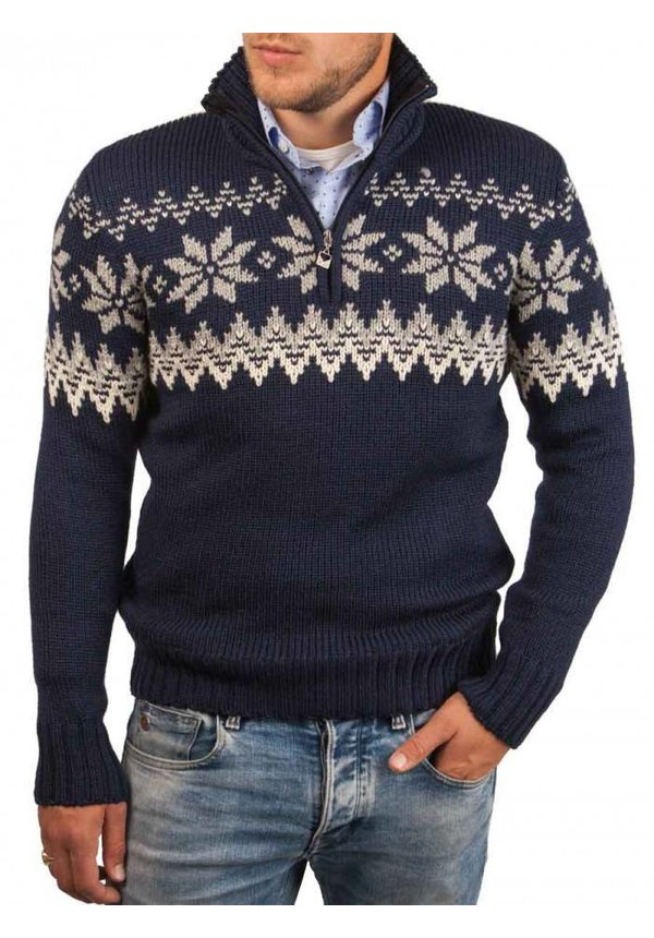 ® Pullover Vail, Pullover Myking, Donkerblauw