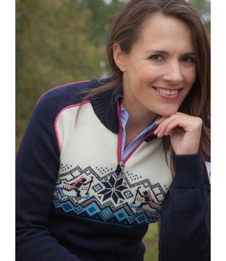 Dale of Norway Dale of Norway ® Biathlon Dames Trui, donkerblauw