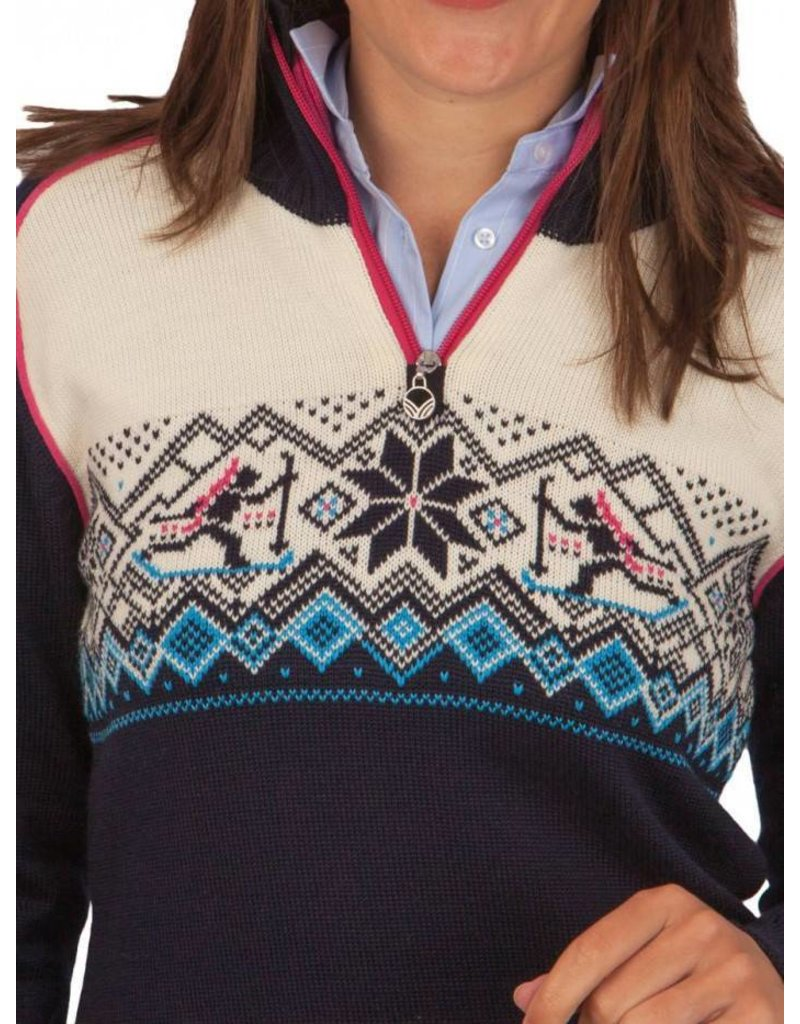 Dale of Norway ® Biathlon Dames Trui, donkerblauw