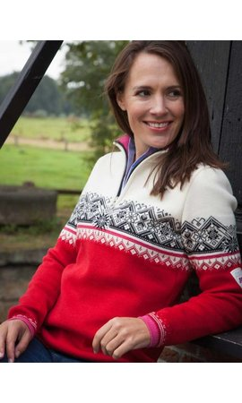 Dale of Norway Dale of Norway ® St.Moritz Dames Pullover rood/wit