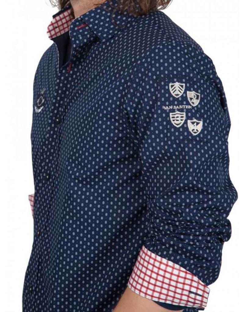 van Santen & van Santen ® Overhemd VSP, donkerblauw
