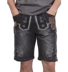 Krüger Krüger ® Jeans Lederhose stijl Anthracite
