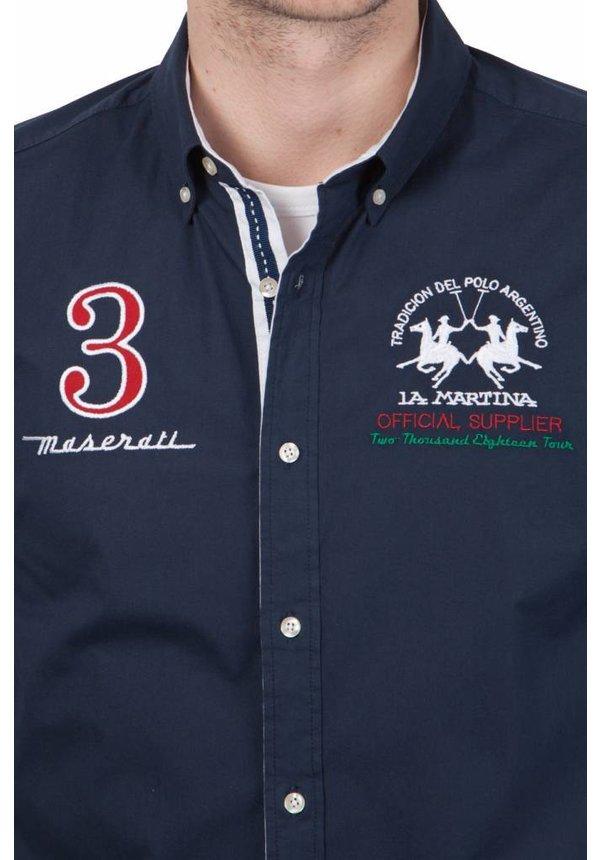 ® Overhemd Maserati, donkerblauw