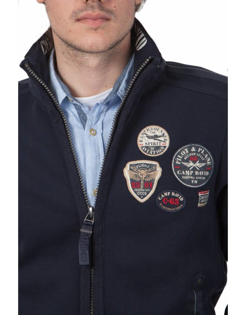 Camp David ® vest Aircraft, Donkerblauw