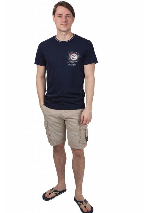 ® T-Shirt met korte mouwen, Sandy Donkerblauw