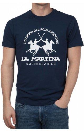 La Martina La Martina ® T-Shirt Logo Donkerblauw