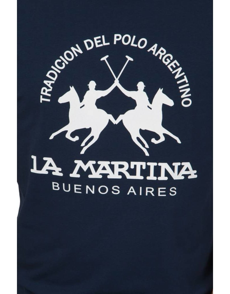 La Martina ® T-Shirt Logo Donkerblauw